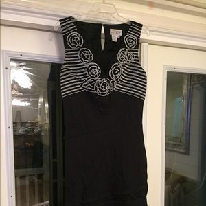 Adrienne Pappell Mid Length Black Dress